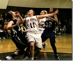 Girls Basketball Physical Contact as a metaphor for job search networking
