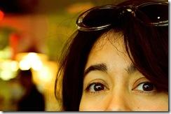 Woman Peeking and Lurking